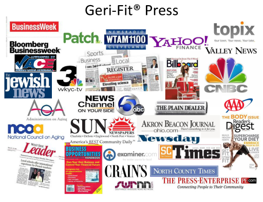 Geri-Fit, the first strength training exercise program that increases strength, helps make bones stronger, improves balance, and helps prevent falls